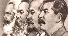 Stalin with Lenin