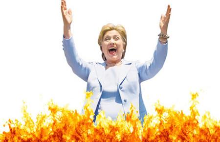hillary-on-fire