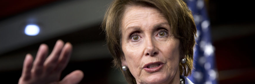 House Minority Leader Nancy Pelosi speaks at a Dec. 19 news conference on Capitol Hill.